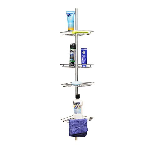 Home Basics 4-Tier Corner Shower Shelf