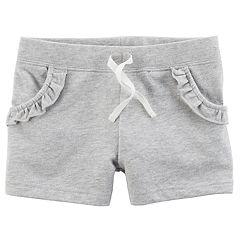 Girls 4-8 Carter's Ruffled French Terry Shorts