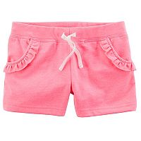 Girls 4-8 Carter's Ruffled French Terry Shorts