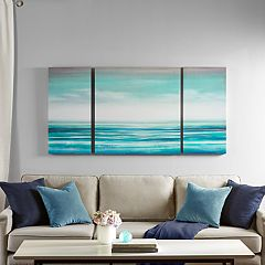 Madison Park Teal Tides Canvas Wall Art 3-piece Set