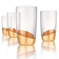 Artland 4-piece Luxe Gold Highball Glass Set
