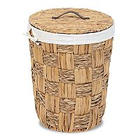 Soho Market Checkerboard Seagrass Laundry Hamper