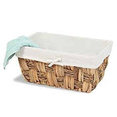 Soho Market Checkerboard Seagrass Storage Basket Bin