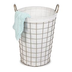 Soho Market Champagne Grid Wire Laundry Hamper