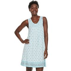 Women's Croft & Barrow® Smocked Nightgown