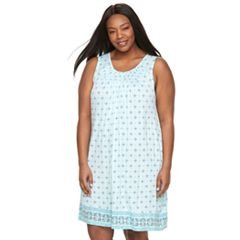 Plus Size Croft & Barrow® Smocked Nightgown