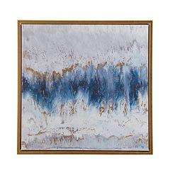 Madison Park Blue Embrace Framed Canvas Wall Art