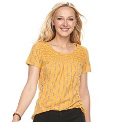 Women's SONOMA Goods for Life™ Lace Yoke Tee