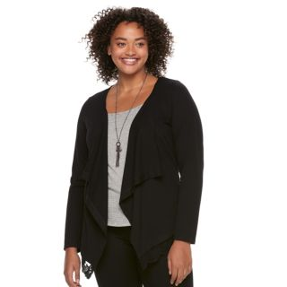 Juniors' Plus Size HeartSoul Tank & Cardigan Set