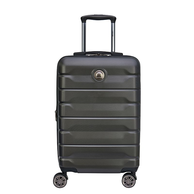 Delsey Air Armour Hardside Spinner Luggage, Black, 28 INCH