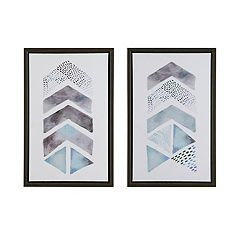 Urban Habitat This & That Way Framed Canvas Wall Art 2-piece Set