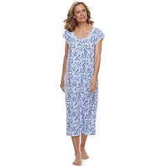 Women's Croft & Barrow® Printed Lace Trim Nightgown