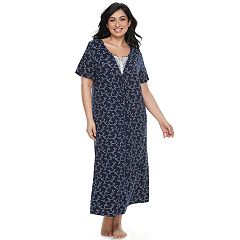 Plus Size Croft & Barrow® Lace Trim Nightgown