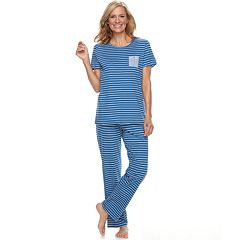 Women's Croft & Barrow® Crewneck Tee & Pants Pajama Set