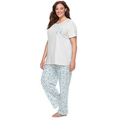 Plus Size Croft & Barrow® Crewneck Tee & Pants Pajama Set
