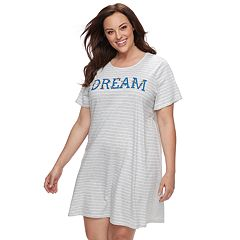 Plus Size Croft & Barrow® Striped Sleepshirt