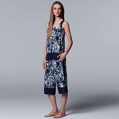 Women's Simply Vera Vera Wang Floral Tank & Culottes Pajama Set