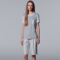 Women's Simply Vera Vera Wang Tee & Bermuda Shorts Pajama Set