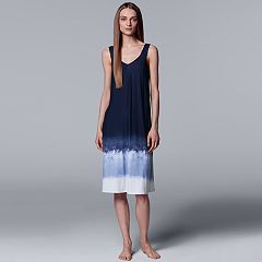 Women's Simply Vera Vera Wang Tie-Dye Long Chemise
