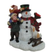 St. Nicholas Square® Village Children Making Snowman
