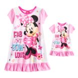 Disney's Minnie Mouse Toddler Girl Nightgown & Doll Nightgown