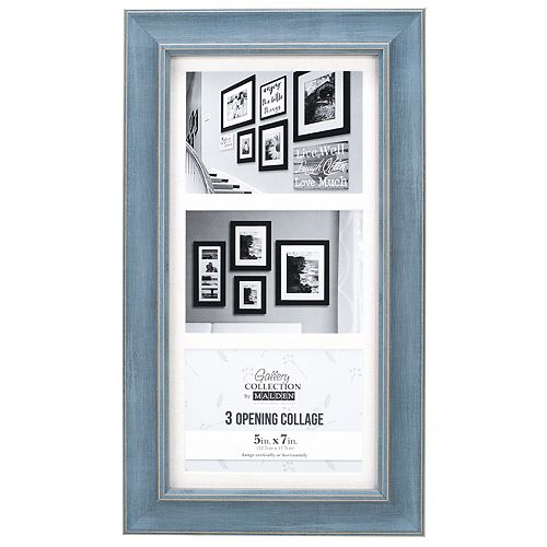 Malden Distressed Blue 3 Opening 5 X 7 Collage Frame