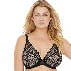 Glamorise Stretch Lace Wonderwire Bra 9850