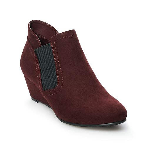 Croft & Barrow Serf Women's Ortholite Wedge Ankle Boots