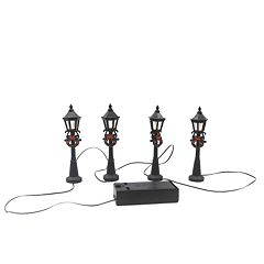 St. Nicholas Square® Village Set of 4 Lamp Posts