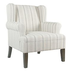 HomePop Emerson Rolled Arm Accent Chair