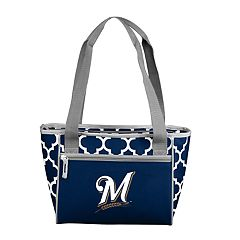 Logo Brand Milwaukee Brewers 16-Can Cooler Tote