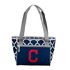 Logo Brand Cleveland Indians 16-Can Cooler Tote