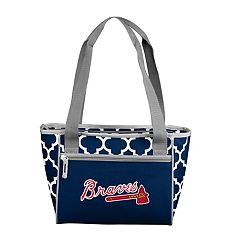 Logo Brand Atlanta Braves 16-Can Cooler Tote