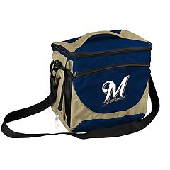 Logo Brand Milwaukee Brewers 24-Can Cooler Tote