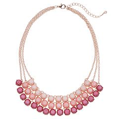 Rose Gold Tone Multi Strand Necklace