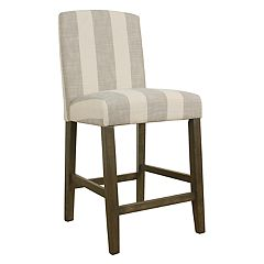 HomePop Curved Back Bar Stool
