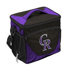 Logo Brand Colorado Rockies 24-Can Cooler Tote