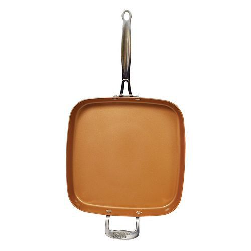 Red Copper 12 Inch Square Pan As Seen On Tv