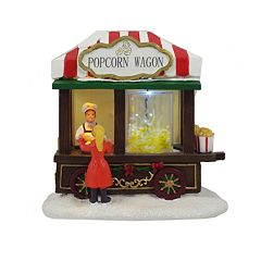 St. Nicholas Square® Village Popcorn Wagon with Motion