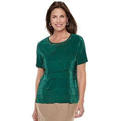 Women's Alfred Dunner Studio Tiered Pleat Top