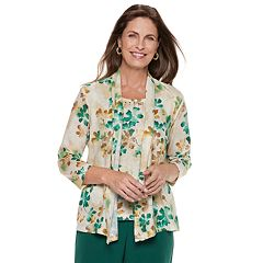 Women's Alfred Dunner Floral Mock-Layer Top