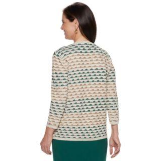 Women's Alfred Dunner Studio Textured Mock-Layer Sweater