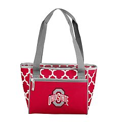 Logo Brand Ohio State Buckeyes Quatrefoil 16-Can Cooler Tote