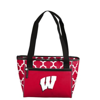 Logo Brand Wisconsin Badgers Quatrefoil 16-Can Cooler Tote