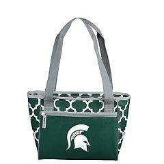 Logo Brand Michigan State Spartans Quatrefoil 16-Can Cooler Tote