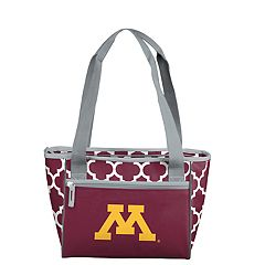 Logo Brand Minnesota Golden Gophers Quatrefoil 16-Can Cooler Tote