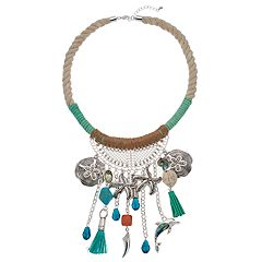 Believe In Corded Sea Life Statement Necklace