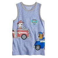 Boys 4-10 Jumping Beans® Paw Patrol Marshall & Chase Pocket Graphic Tank Top