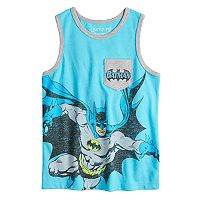 Boys 4-10 Jumping Beans® DC Comics Batman Pocket Graphic Tank Top