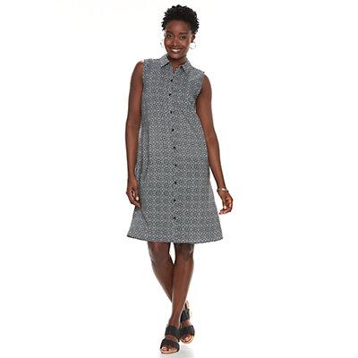 Women's Croft & Barrow® Print Shirt Dress